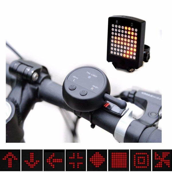 Bicycle Turn Signal Lights,Vishm Bright 64 LED Wireless Turn Signals Bike Safety Warning Light