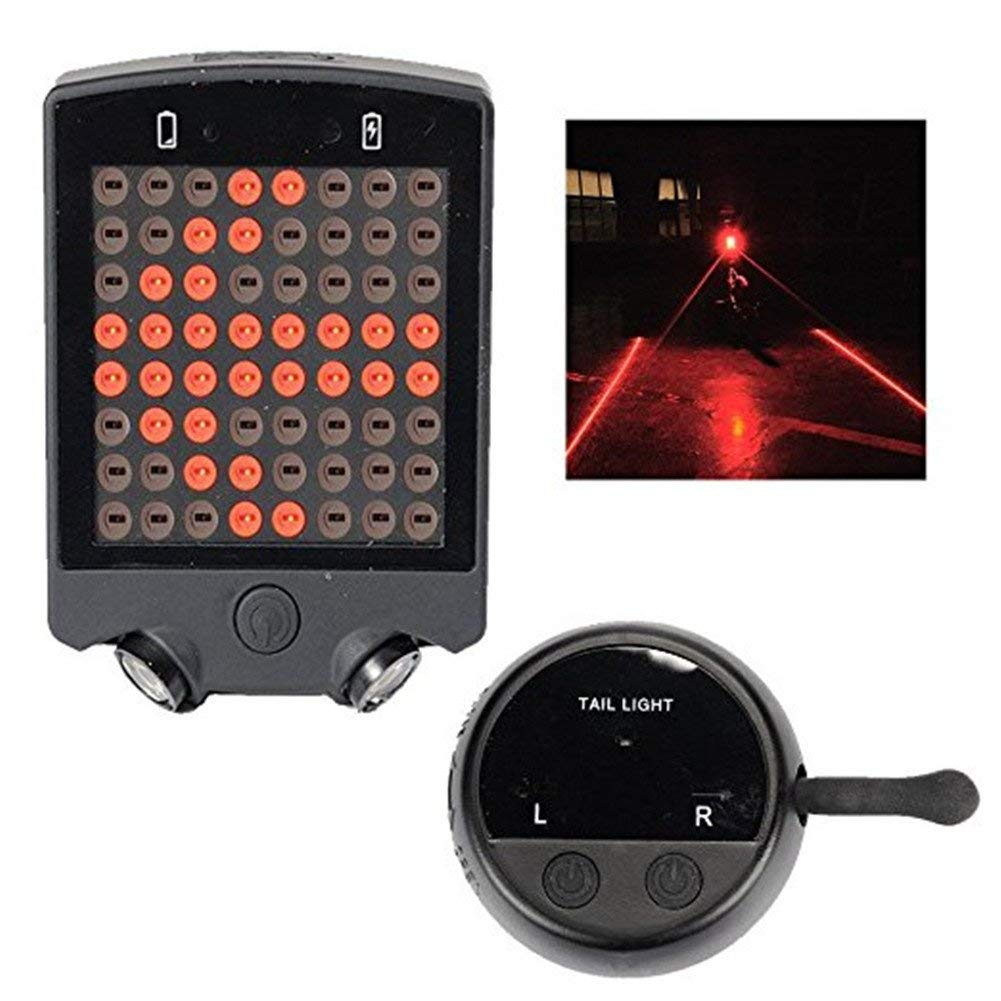 OWIKAR Bicycle Turn Signals Light, 64 LED Wireless Turn Signals Bike Light